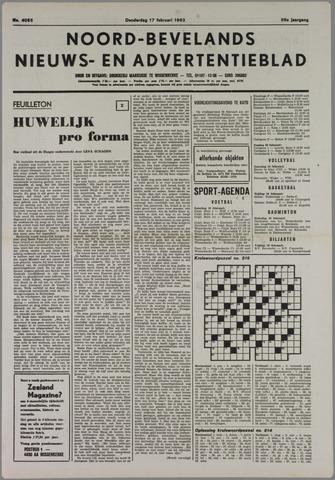 Noord-Bevelands Nieuws- en advertentieblad 1983-02-17