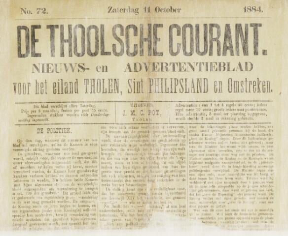Ierseksche en Thoolsche Courant 1884-10-11