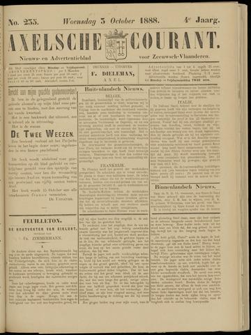 Axelsche Courant 1888-10-03