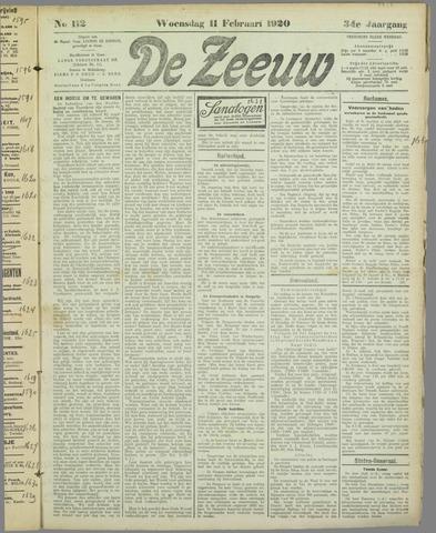 De Zeeuw. Christelijk-historisch nieuwsblad voor Zeeland 1920-02-11