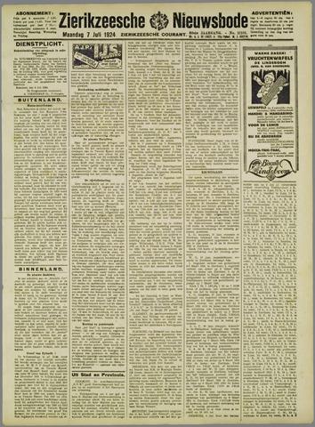 Zierikzeesche Nieuwsbode 1924-07-07