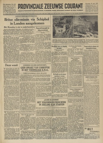 Provinciale Zeeuwse Courant 1951-06-23