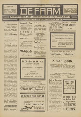 de Faam en de Faam/de Vlissinger 1941