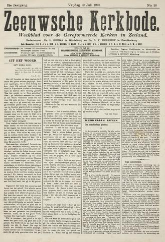 Zeeuwsche kerkbode, weekblad gewijd aan de belangen der gereformeerde kerken/ Zeeuwsch kerkblad 1918-07-12