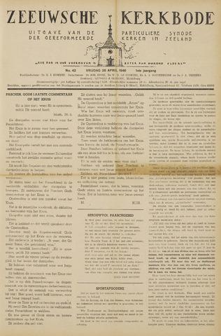 Zeeuwsche kerkbode, weekblad gewijd aan de belangen der gereformeerde kerken/ Zeeuwsch kerkblad 1946-04-26