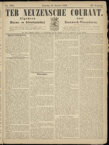 Ter Neuzensche Courant. Algemeen Nieuws- en Advertentieblad voor Zeeuwsch-Vlaanderen / Neuzensche Courant ... (idem) / (Algemeen) nieuws en advertentieblad voor Zeeuwsch-Vlaanderen 1883-01-27