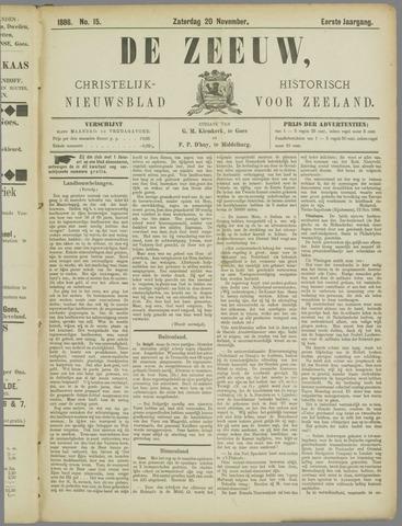 De Zeeuw. Christelijk-historisch nieuwsblad voor Zeeland 1886-11-20