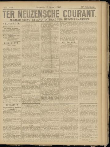 Ter Neuzensche Courant. Algemeen Nieuws- en Advertentieblad voor Zeeuwsch-Vlaanderen / Neuzensche Courant ... (idem) / (Algemeen) nieuws en advertentieblad voor Zeeuwsch-Vlaanderen 1923-03-19