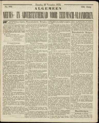 Ter Neuzensche Courant. Algemeen Nieuws- en Advertentieblad voor Zeeuwsch-Vlaanderen / Neuzensche Courant ... (idem) / (Algemeen) nieuws en advertentieblad voor Zeeuwsch-Vlaanderen 1873-11-29