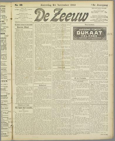 De Zeeuw. Christelijk-historisch nieuwsblad voor Zeeland 1919-11-22