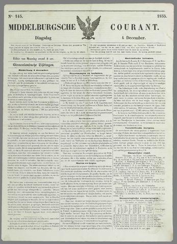 Middelburgsche Courant 1855-12-04