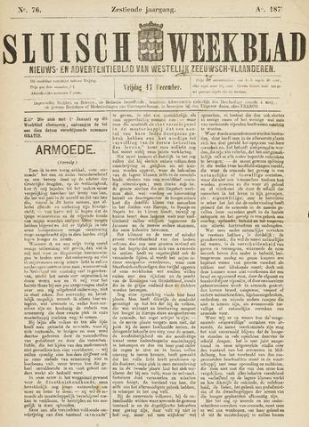 Sluisch Weekblad. Nieuws- en advertentieblad voor Westelijk Zeeuwsch-Vlaanderen 1875-12-17