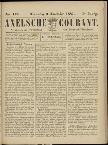 Axelsche Courant 1887-11-09