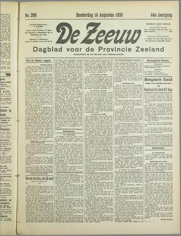 De Zeeuw. Christelijk-historisch nieuwsblad voor Zeeland 1930-08-14