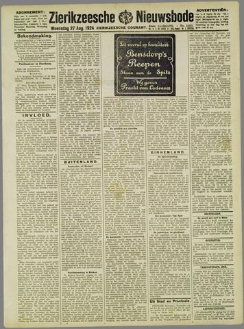 Zierikzeesche Nieuwsbode 1924-08-27
