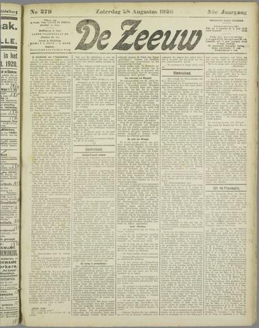 De Zeeuw. Christelijk-historisch nieuwsblad voor Zeeland 1920-08-28