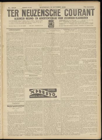 Ter Neuzensche Courant. Algemeen Nieuws- en Advertentieblad voor Zeeuwsch-Vlaanderen / Neuzensche Courant ... (idem) / (Algemeen) nieuws en advertentieblad voor Zeeuwsch-Vlaanderen 1938-10-19
