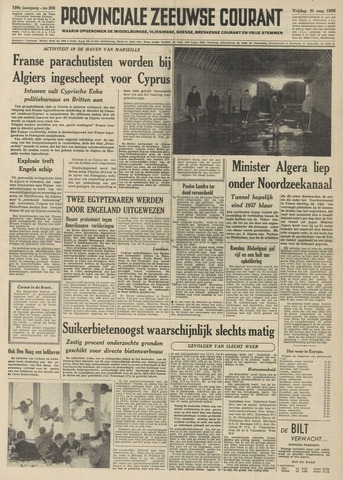 Provinciale Zeeuwse Courant 1956-08-31