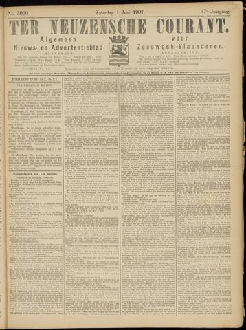 Ter Neuzensche Courant. Algemeen Nieuws- en Advertentieblad voor Zeeuwsch-Vlaanderen / Neuzensche Courant ... (idem) / (Algemeen) nieuws en advertentieblad voor Zeeuwsch-Vlaanderen 1907-06-01