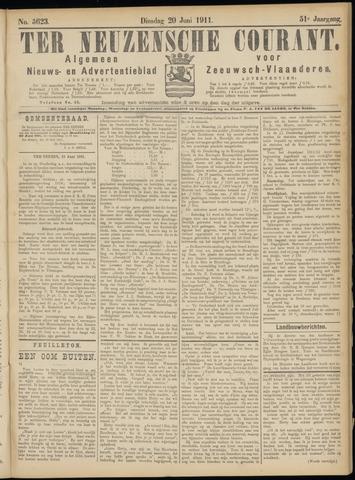 Ter Neuzensche Courant. Algemeen Nieuws- en Advertentieblad voor Zeeuwsch-Vlaanderen / Neuzensche Courant ... (idem) / (Algemeen) nieuws en advertentieblad voor Zeeuwsch-Vlaanderen 1911-06-20