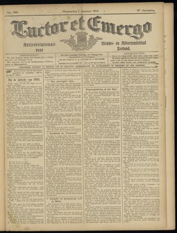 Luctor et Emergo. Antirevolutionair nieuws- en advertentieblad voor Zeeland / Zeeuwsch-Vlaanderen. Orgaan ter verspreiding van de christelijke beginselen in Zeeuwsch-Vlaanderen 1913-01-01