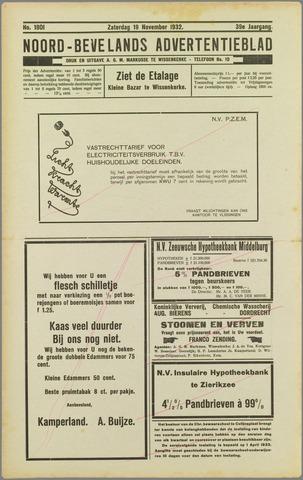 Noord-Bevelands Nieuws- en advertentieblad 1932-11-19