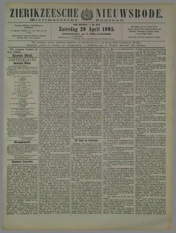 Zierikzeesche Nieuwsbode 1905-04-29