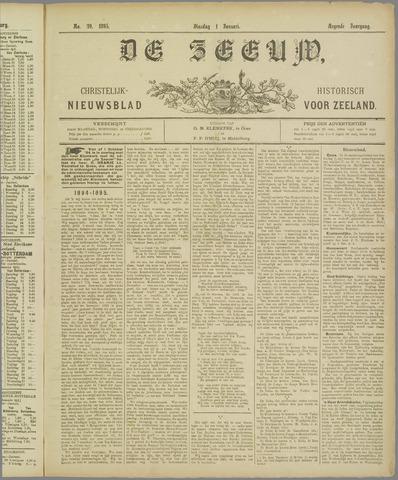 De Zeeuw. Christelijk-historisch nieuwsblad voor Zeeland 1895