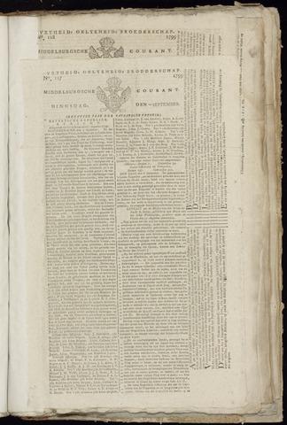 Middelburgsche Courant 1799-09-10