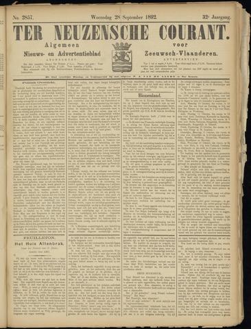 Ter Neuzensche Courant. Algemeen Nieuws- en Advertentieblad voor Zeeuwsch-Vlaanderen / Neuzensche Courant ... (idem) / (Algemeen) nieuws en advertentieblad voor Zeeuwsch-Vlaanderen 1892-09-28