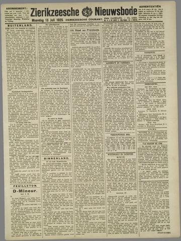 Zierikzeesche Nieuwsbode 1925-07-13