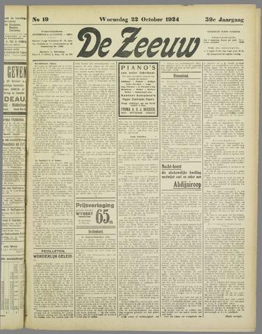 De Zeeuw. Christelijk-historisch nieuwsblad voor Zeeland 1924-10-22