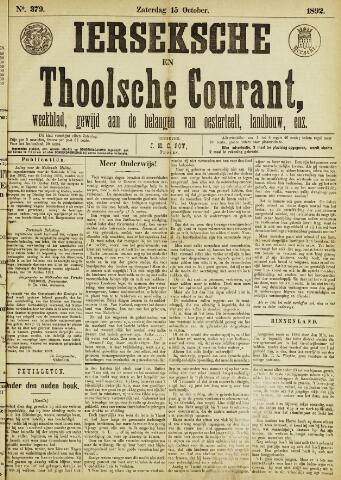 Ierseksche en Thoolsche Courant 1892-10-15