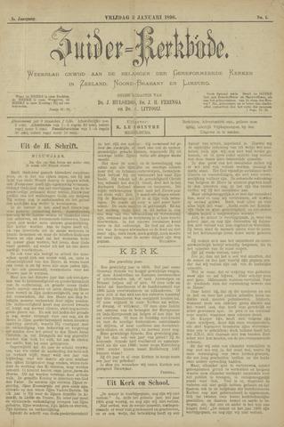 Zuider Kerkbode, Weekblad gewijd aan de belangen der gereformeerde kerken in Zeeland, Noord-Brabant en Limburg. 1896