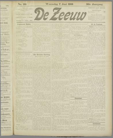 De Zeeuw. Christelijk-historisch nieuwsblad voor Zeeland 1916-06-07