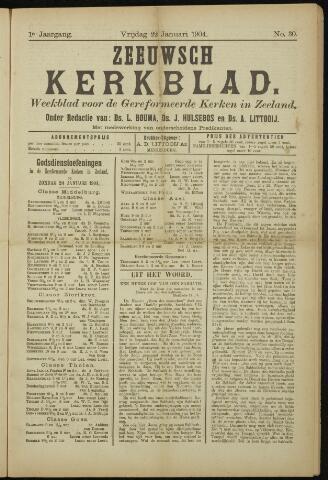 Zeeuwsche kerkbode, weekblad gewijd aan de belangen der gereformeerde kerken/ Zeeuwsch kerkblad 1904-01-22