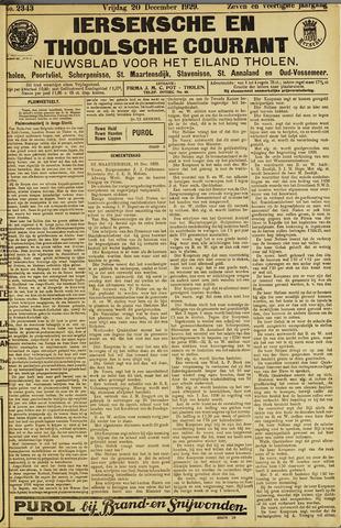 Ierseksche en Thoolsche Courant 1929-12-20