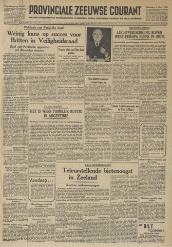 Provinciale Zeeuwse Courant 1951-10-01