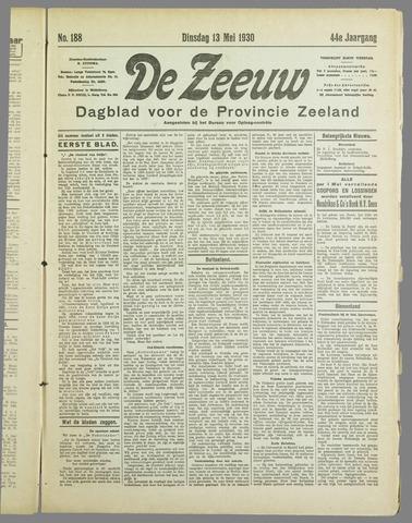 De Zeeuw. Christelijk-historisch nieuwsblad voor Zeeland 1930-05-13