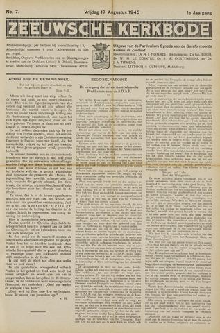 Zeeuwsche kerkbode, weekblad gewijd aan de belangen der gereformeerde kerken/ Zeeuwsch kerkblad 1945-08-17