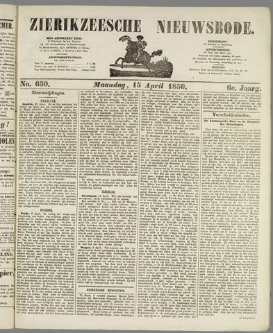 Zierikzeesche Nieuwsbode 1850-04-15