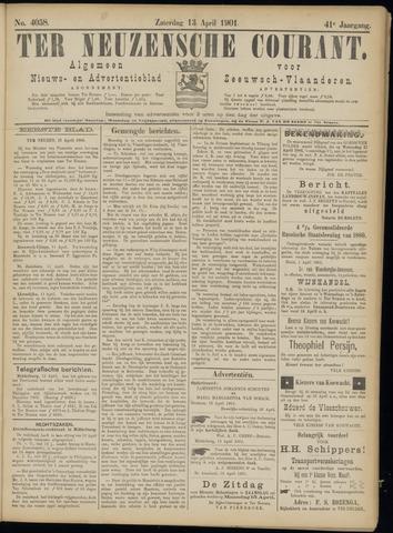 Ter Neuzensche Courant. Algemeen Nieuws- en Advertentieblad voor Zeeuwsch-Vlaanderen / Neuzensche Courant ... (idem) / (Algemeen) nieuws en advertentieblad voor Zeeuwsch-Vlaanderen 1901-04-13