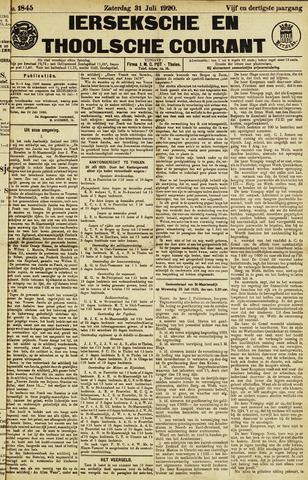 Ierseksche en Thoolsche Courant 1920-07-31