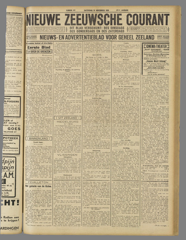 Nieuwe Zeeuwsche Courant 1931-11-21