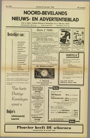 Noord-Bevelands Nieuws- en advertentieblad 1958-12-20