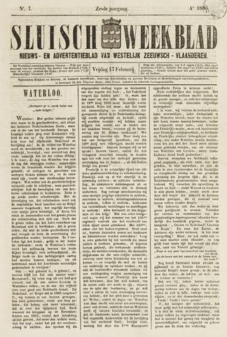 Sluisch Weekblad. Nieuws- en advertentieblad voor Westelijk Zeeuwsch-Vlaanderen 1865-02-17