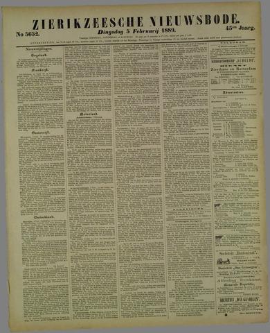 Zierikzeesche Nieuwsbode 1889-02-05