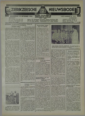 Zierikzeesche Nieuwsbode 1942-09-10