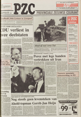 Provinciale Zeeuwse Courant 1987-09-14