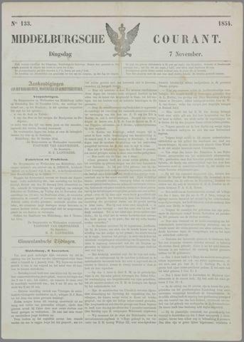 Middelburgsche Courant 1854-11-07